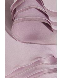 Zac Posen Purple Asymmetric Silk-chiffon Gown