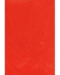 Zac Posen Red One Shoulder Stretch-silk Gown