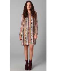 Zimmermann | Multicolor Mixed Print Long Sleeve Dress | Lyst