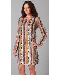 Zimmermann - Multicolor Mixed Print Long Sleeve Dress - Lyst
