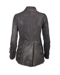 AllSaints | Gray Brocade Military Tailcoat | Lyst