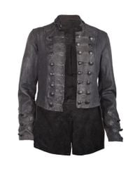 AllSaints - Black Brocade Military Tailcoat - Lyst