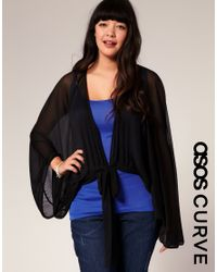 ASOS Collection | Black Asos Curve Pleated Wrap Cover Up | Lyst