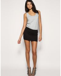 ASOS Collection | Black Asos Jersey Micro Mini Skirt | Lyst