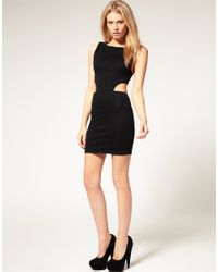 ASOS Collection - Black Asos Petite Cut Out Side Bodycon Dress - Lyst