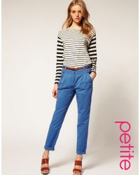 ASOS Collection | Blue Asos Pleat Pocket Chinos | Lyst
