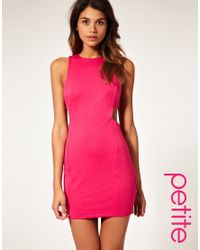 ASOS Collection | Pink Asos Petite Cut Out Shift Dress | Lyst