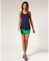 ASOS Collection - Green Asos Jersey Micro Mini Skirt - Lyst