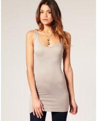 ASOS | Gray Basic Longline Vest | Lyst