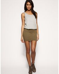 ASOS Collection - Green Asos Jersey Micro Mini Skirt - Lyst