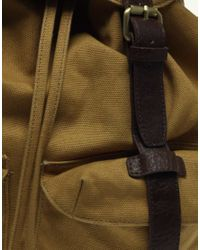 ASOS Collection   Yellow Asos Canvas Backpack for Men   Lyst