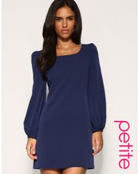 ASOS Collection | Blue Asos Petite Bell Sleeve Shift Dress | Lyst