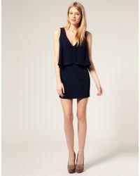 ASOS Collection - Black Asos Petite Plain Drape Crop Top Dress - Lyst