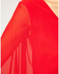 ASOS Collection - Red Asos Maternity Chiffon Kaftan Dress - Lyst