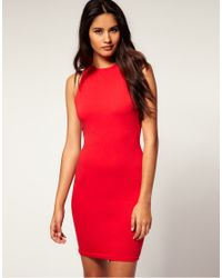 ASOS Collection | Red Asos Bodycon Dress Slash Back | Lyst