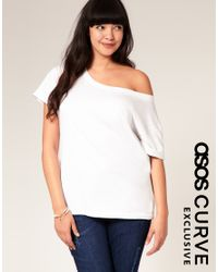 ASOS Collection | White Asos Curve Exclusive Off Shoulder T-shirt | Lyst