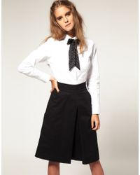 ASOS Collection | White Asos Peter Pan Collar Fitted Shirt | Lyst