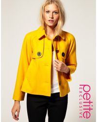 ASOS Collection - Yellow Asos Petite Exclusive 60s Jacket - Lyst