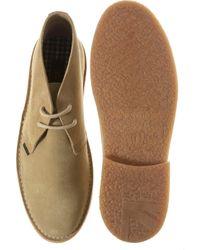 Ben Sherman Natural Clegg Suede Desert Boots for men