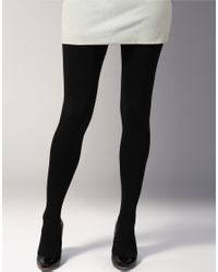 Falke | Black Opaque Pure Matt 100 Denier Tights | Lyst
