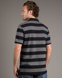 Psycho Bunny | Striped Bunny Polo, Black-charcoal for Men | Lyst