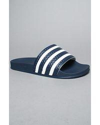 Adidas   Blue 'adilette' Slide Sandal for Men   Lyst