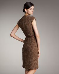 Akris - Brown Front-zip Belted Dress - Lyst