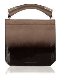 Alexander Wang Brown Ryan Ombré Patent-leather and Suede Bag
