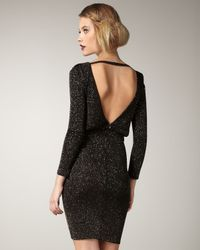 Alice + Olivia - Black Aerin Metallic Blouson Dress - Lyst