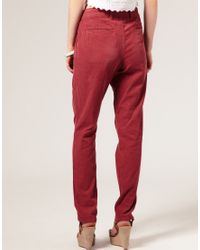ASOS Collection | Blue Asos Cord Peg Trousers | Lyst