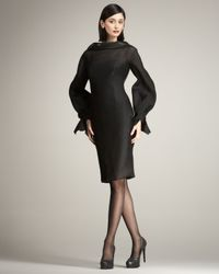 Carolina Herrera - Black Degrade Organza Dress - Lyst