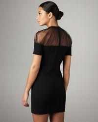 Christopher Kane - Black Crissy Tulle-neck Dress - Lyst