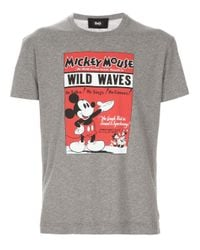 Dolce & Gabbana Gray Mickey Mouse T-shirt for men