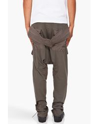DRKSHDW by Rick Owens - Gray Harem Lounge Pants for Men - Lyst