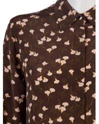 Equipment Brown Earl Vintage Daffodil Print Blouse