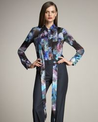 ESCADA | Multicolor Printed Silk Blouse with Scarf | Lyst