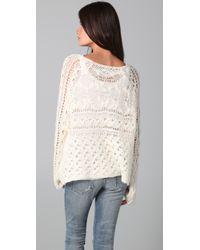 Free People - White Pegasus Sweater - Lyst