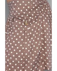 Free People - Brown Polka Dot Staying Cool Skort in Taupe - Lyst