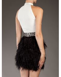 Givenchy White Feather Halter Dress