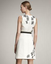 Jason Wu | White Belted Houndstooth Sheath Dress | Lyst