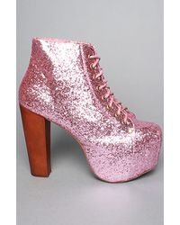 Jeffrey Campbell | The Lita Shoe in Pink Glitter | Lyst