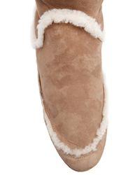 Lanvin Natural Tall Shearling Boot