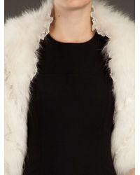 Liska   White Polar Fox Fur Bolero Jacket   Lyst