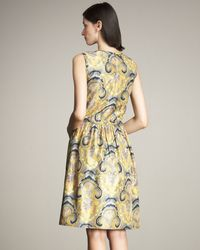 Lyn Devon | Yellow Sophie Paisley-print Dress | Lyst