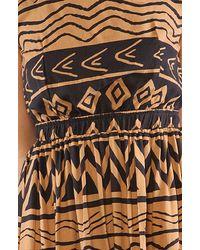 MINKPINK Brown The Inca Trail Tie Back Dress