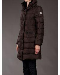 Moncler Brown Vos Three-quarter Length Puffer Jacket