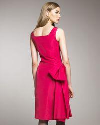 Oscar de la Renta | Pink Side-bow Cocktail Dress | Lyst