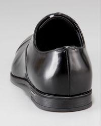 Prada | Black Cap-toe Lace-up Oxford for Men | Lyst