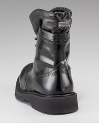 Prada | Black Wing-tip Boot for Men | Lyst