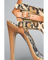 Sam Edelman | Multicolor The Lucia Sandal in Nude Leopard and Saddle | Lyst